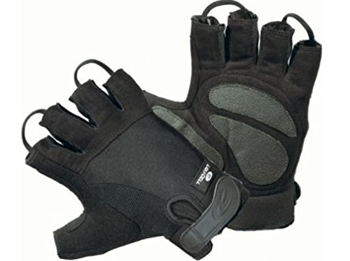 HLG250 Black 1/2 Half Finger Police EMT EMS Bike Cycle Patrol LiquiCell Gloves