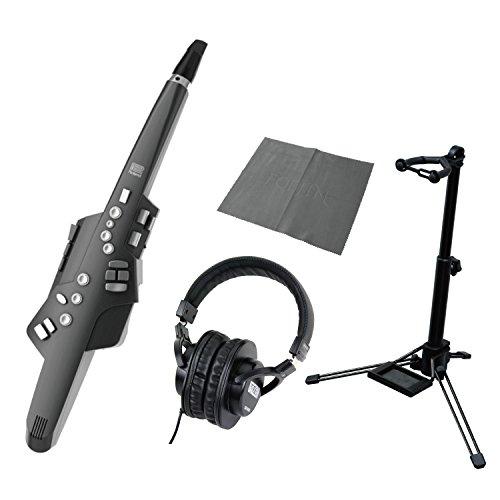 [해외] Roland AE-10G Aerophone Graphite Black 스탠드 헤드폰 크로스(ROSS) 포함 부착 세트 윈드 신디사이저