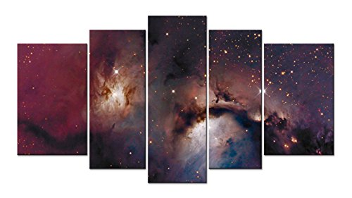 SmartWallArt - Space Landscape Paintings Wall Art Decor Constellations Planets Nebula 5 piece Picture Print on Canvas for Modern Home - Constellation Painting