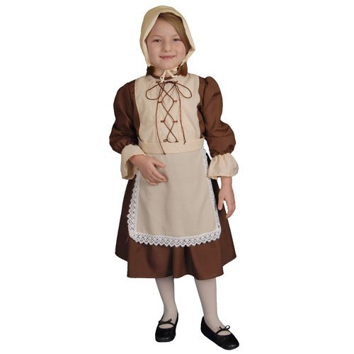 Colonial America Costumes Kids (Dress Up America Deluxe Colonial Girl Costume - Small 4-6)