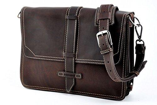 Vachetta Vintage Briefcase - Walnut / Walnut