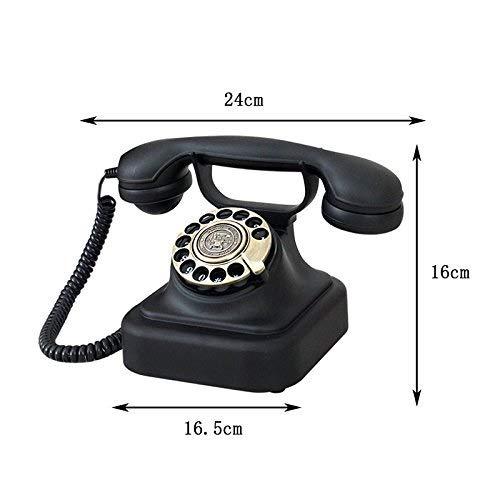 ZXIU phone Vintage Imitation Antique European Office Home Living Room Rotary Dial Phone