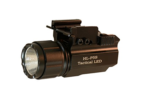 Hilight P5S 500 Lumen Pistol LED Strobe Flashlight with Weaver Quick Release Fits Most Full Size, Compact, and Subcompact Pistols