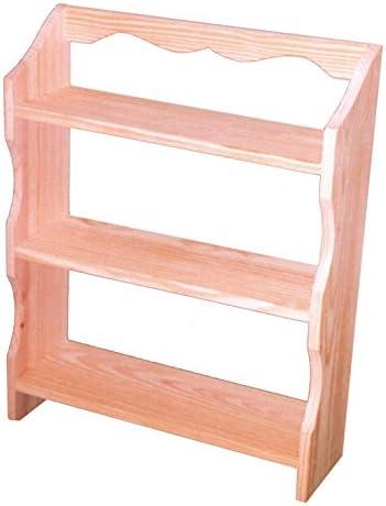Greca Estantería Madera 3 baldas. En Pino Macizo en Crudo, se Puede Pintar. Medidas (Ancho/Fondo/Alto): 38 * 13 * 49 cms.