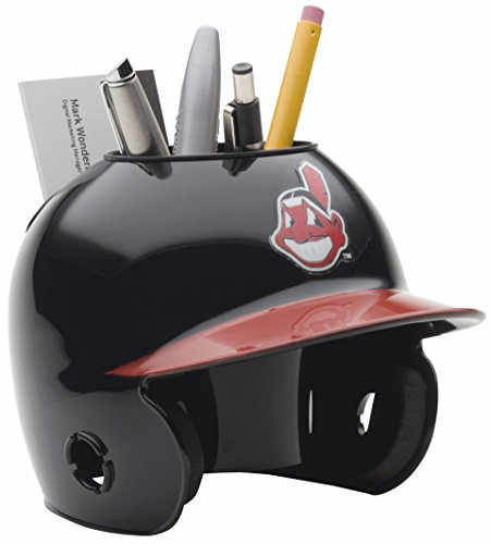 Indians Authentic Mini - Schutt MLB Cleveland Indians Authentic Mini Batting Helmet Desk Caddy