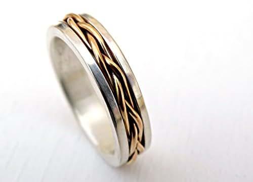 Amazon.com: celtic wedding band men, gold braided wedding
