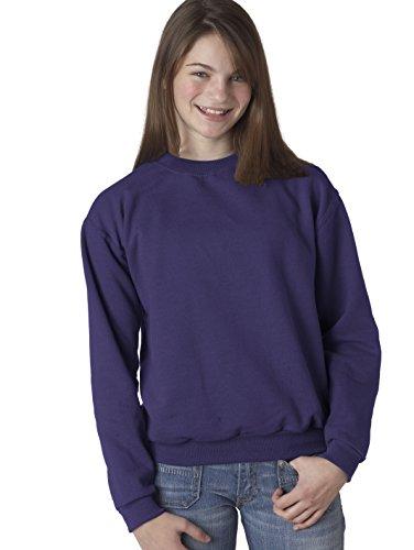 Sweatshirt 562b Jerzees (JERZEES - Youth Crewneck Sweatshirt Purple-M [Apparel])