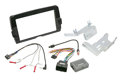 SCOSCHE HD14UDDBN 2014-Up Harley Davidson Bat Wing Fairing Double Din Installation Kit - Gloss Black ()