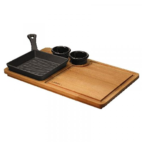Grill Pan Cm 16x16 With Stand Cast Iron