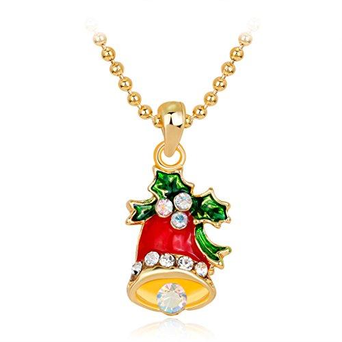 [Yinpinxinmao Christmas Charms Pendant Necklace Jewelry Making with Snowman/Jingle Bell/Tree/Santa Claus/Gift Box Decor (Jingle Bell)] (Making Snowman Costume)