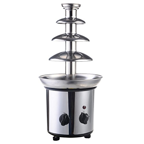 Giantex 4 Tiers 2-Pound Capacity Stainless Steel Chocolate Fondue Fountain for Party Wedding Hotel