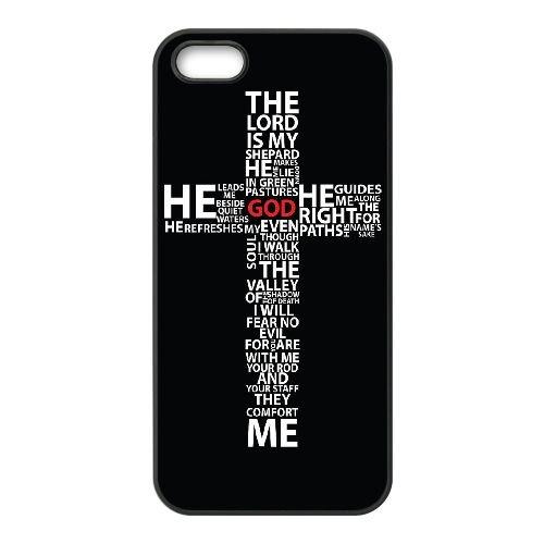 Croix Typographie EO70QR3 coque iPhone 5 5s téléphone cellulaire cas coque S3HS8I4TP