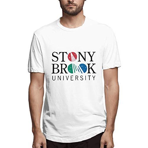 Casual T Shirt,Stony Brook University Tees Summer Short Sleeve Round Blouse White ()