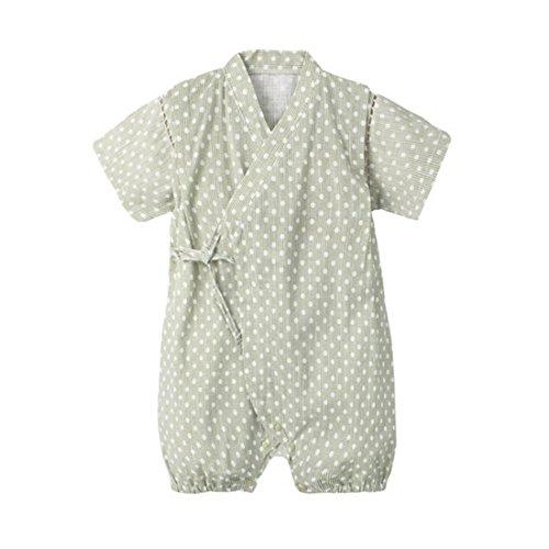 PAUBOLI Japanese Kimono Style Baby Rompers Bathrobe Pajamas Infant Cotton Comfy Loose Bodysuit (9-18 Months, 08) ()