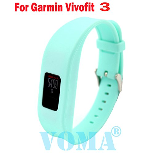 VOMA USA Garmin Vivofit 3 Wristband/Garmin Band/Garmin Vivofit 3 Band/Garmin Wristband/Garmin Bracelet/Garmin replacement band(Teal)