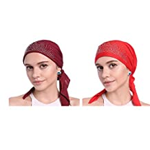 Women's Chemo Hat Beanie Scarf, Turban Headwear for Cancer Patients
