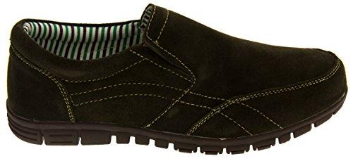 Coolers BF720 Mujer Gamuza Zapatillas de Deporte Mocasines Ocasionales Verde