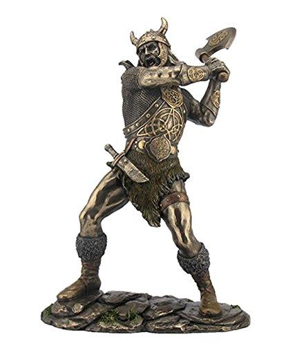 11.25 Norse Viking w Ax Warrior Statue Sculpture Figure Figurine