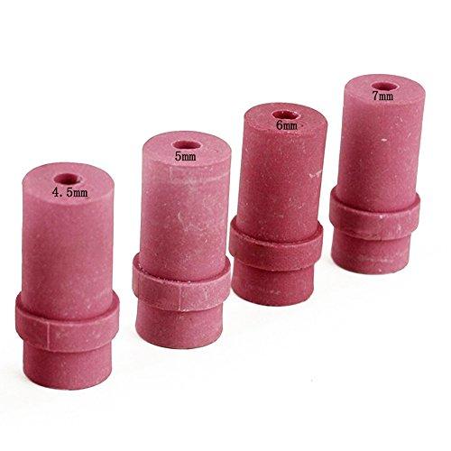 Jewboer 4pcs Ceramic Sandblaster Nozzle Tips,Abrasive Sand Blaster Blasting 4.5mm,5mm,6mm and 7mm Inner Diameter (Pack of 4) ()