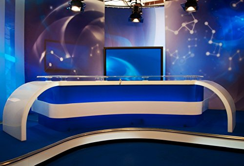 OFILA News Report Backdrop 9x6ft Photography Background TV Show Broadcast Interview Global Studio Lights Motion Picture Media Screen Photos Motion Picture Video Modern Technology Studio Props from OFILA