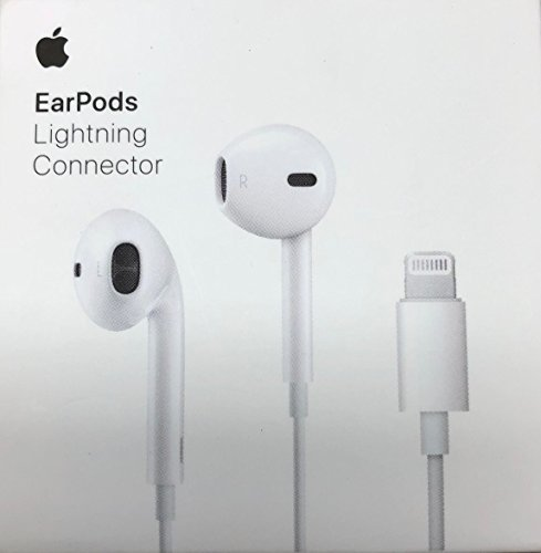 Apple EarPods in-Ear Earbuds with Remote, Mic and Lightning Connector Earbud Headphones iPhone iOS, White (Renewed)