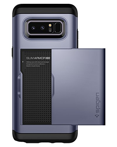 Spigen Slim Armor CS Galaxy Note 8 Case with Slim Dual Layer Wallet Design and Card Slot Holder for Galaxy Note 8 (2017) - Orchid Gray