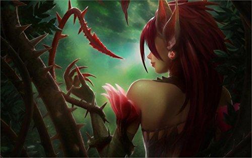 (Twenty-threeLeague Of Legends Zyra Thorns Ears Back Vine Wood 24X36 Inch Poster Print 4)