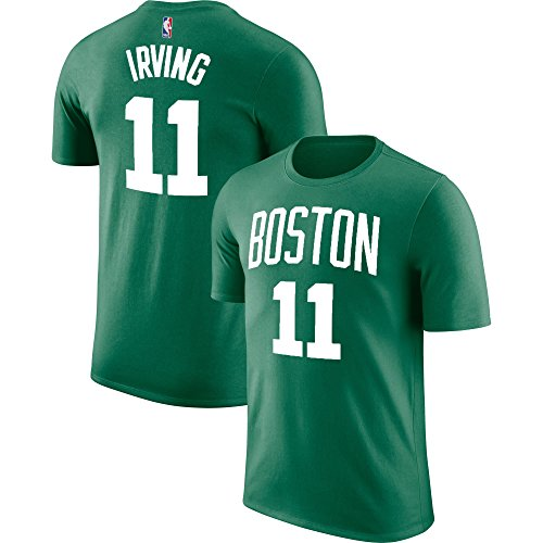 Nba Boston Celtics Jersey - Outerstuff NBA Youth Performance Game Time Team Color Player Name and Number Jersey T-Shirt (Medium 10/12, Kyrie Irving)