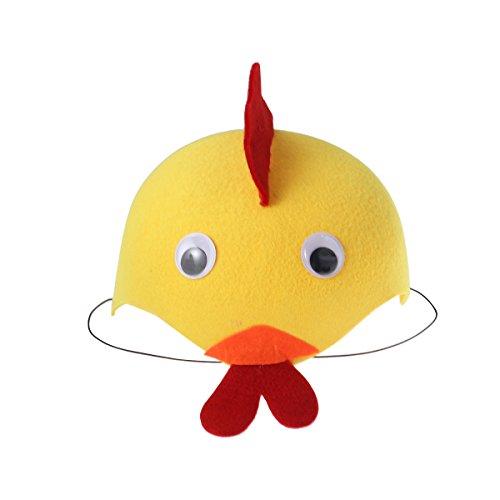BESTOYARD Cute Cartoon Animal Headdress Children Hat Kindergarten Cap Party Gift for Birthday Children's Day Halloween Cosplay Show Birthday(Chicken) -
