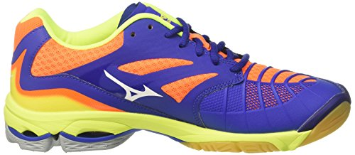 Zapatos White Lightning Orangeclownfish para Voleibol Surftheweb Multicolor de Wave Mizuno Hombre Z3 vngUUx