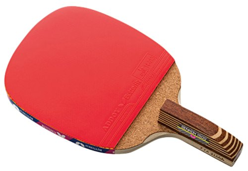 Butterfly Senkoh 1500 Penhold Table Tennis Racket with Rubber and Brown Handle by Butterfly