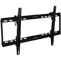 "Mount-It! MI-1121M Slim Tilt TV Wall Mount Bracket for LED LCD Plasma Flat Screen Panels for 32"" to 65"" (Many from 20-75"") up to VESA 600 x 400 and 130 lbs Low Profile. 0-15 Degree Forward Adjustable Tilting Including 6 ft HDMI Cable and Leveling Bubble Fits Samsung, Sony, LG Sharp, Insignia, Vizio, Haier 26, 28, 32, 40, 42, 48, 49, 50, 51, 52, 55, 60, 65 inch TV, Black"