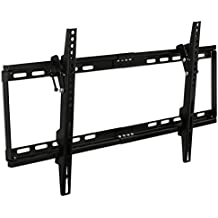 "Mount-It! MI-1121M Slim Tilt TV Wall Mount Bracket for LED LCD Plasma Flat Screen Panels for 32"" to 65"" (Many from 20-75"") up to VESA 600 x 400 and 130 lbs Low Profile. 0-15 Degree Forward Adjustable Tilting and Leveling Bubble Fits Samsung, Sony, LG Sharp, Insignia, Vizio, Haier 26, 28, 32, 40, 42, 48, 49, 50, 51, 52, 55, 60, 65 inch TV, Black"
