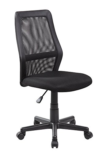 Anji Mid Back Adjustable Armless Computer Office Desk Chair Mesh - 18 Desk Padded Arms