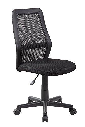 Anji Mid Back Adjustable Armless Computer Office Desk Chair Mesh Black by Anji Modern Furniture