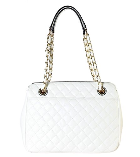 rimen-co-pu-leather-large-quilted-tote-accented-with-chain-handle-womens-purse-handbag-xx-3749