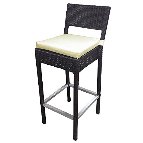 Set of 2 Preston Woven Wicker Outdoor Chair/Bar Stool price