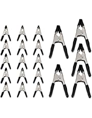Amazon Basics 20-Piece Steel Spring Clamp Set - 15-Pieces 3/4-Inch, 5-Pieces 1-Inch