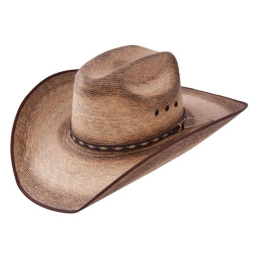 Resistol Mens Amarillo Sky Palm 4 1/8 Brim Straw Cowboy Hat L Natural
