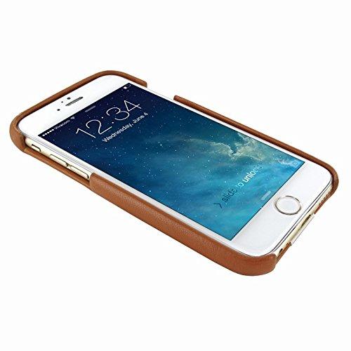 PIELFRAMA 693AV Ostrich Case Apple iPhone 6 Plus in tan Farbe