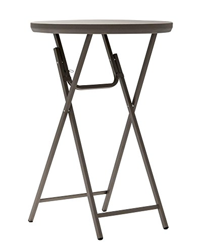 ZOWN Premium Commercial Cocktail Blow Mold Banquet Folding Table, Brown