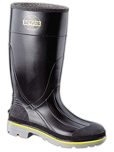 Honeywell Safety 75109-12 Servus XTP Chemical Resistant Men's Safety Hi Boot, Size-12, Black/Yellow/Grey (75109-BLM-120) (Best Farm Rubber Boots)