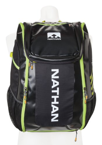 Nathan Flight Control Bag, Black/Sulphur Spring, One Size by Nathan
