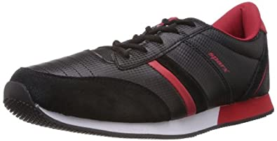 Sparx Men's Black and Red  Suede Sport Running Shoes - 10 UK (SM-139)