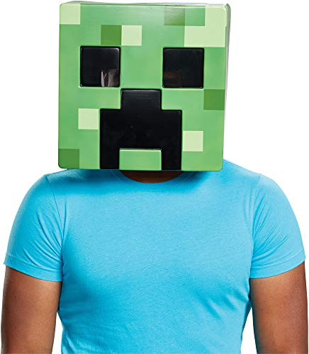 Disguise Adult Minecraft Creeper Movie Theme Party Halloween Costume -