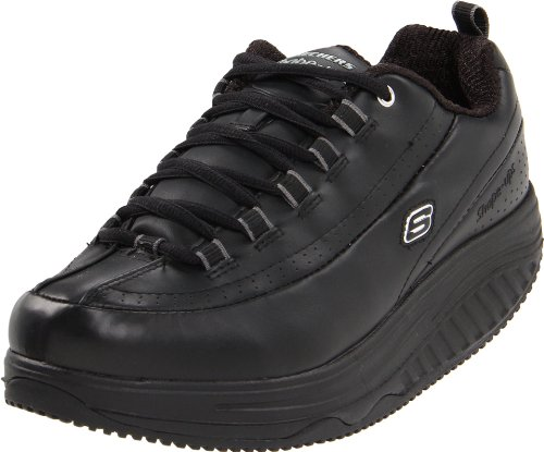 Skechers for Work Women's Shape Ups Slip Resistant Sneaker,Black,9 M US by Skechers