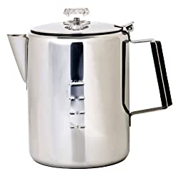 Chinook Timberline 12 Cup Stainless Steel Coffee Percolator made by Chinook