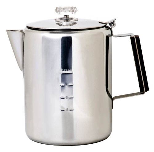 Chinook Timberline 12 Cup Stainless Steel Coffee Percolator by Chinook