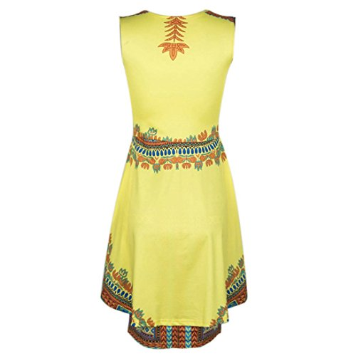 Robe Femme, Fulltime® Robe Vintage Femmes Robes traditionnelles africaines Sexy O-Neck manches Party