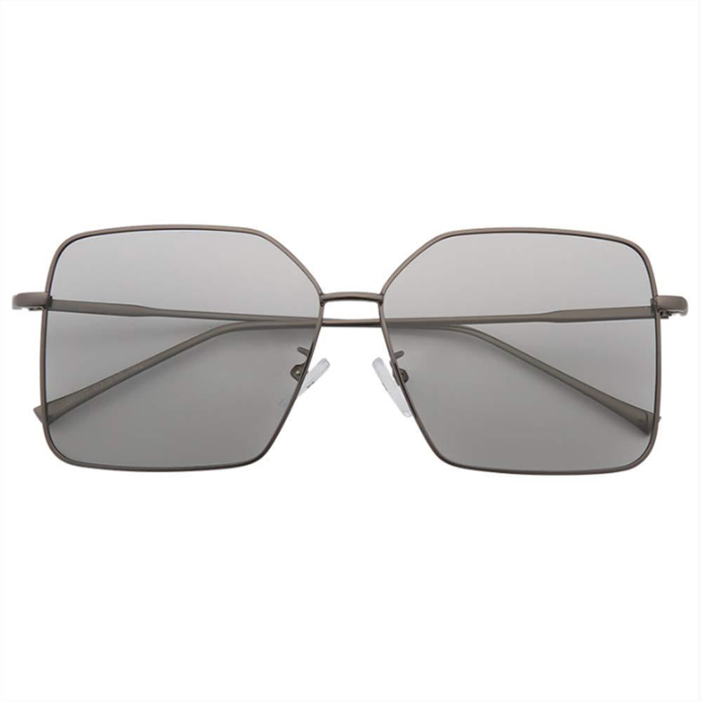 SUHXS Polarisierte Sonnenbrille Frau Große Box Licht Rundes Gesicht Polarisierte Nachtsichtbrille Fahren Spezielle Sonnenbrille Fahren